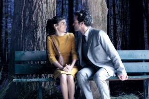 "Colin (Romain Duris) proposes a kiss in Drafthouse Films' ""Mood Indigo."" ©Drafthouse."