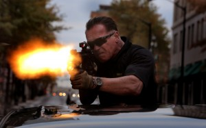 Arnold Schwarzenegger as Breacher in SABOTAGE. ©Universal Studios. CR: Robert Zuckerman.
