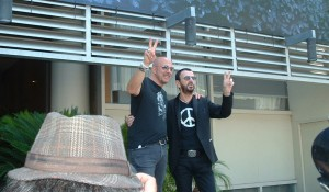 "(l-r) John Varvatos and Ringo Starr at ""The Peace & Love Fund"" kickoff held at the Capitol Records Building in Hollywood, Ca on Monday, July 8, 2014. Photo by Angela Dawson/FRFW."