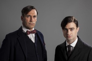 (l-r) Old doctor (Jon Hamm) and Young doctor (Daniel Radcliffe) in A YOUNG DOCTOR'S NOTEBOOK. ©BSB LTD. CR: Colin Hutton.