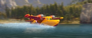 "DIPPER (Julie Bowen) scoops up water in ""PLANES: FIRE & RESCUE"" . ©2014 Disney Enterprises, Inc. All Rights Reserved."