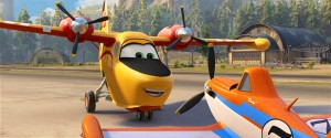 (L-R) DIPPER (Julie Bowen) and DUSTY (Dane Cook) in PLANES: FIRE & RESCUE. ©2014 Disney Enterprises, Inc. All Rights Reserved.