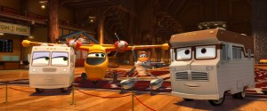 "(L-R): Winnie (Anne Meara), Dipper (Julie Bowen), Dusty (Dane Cook) and Harvey (Jerry Stiller) in ""PLANES: FIRE & RESCUE"". ©2014 Disney Enterprises, Inc. All Rights Reserved."