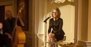 Leah (DIANE KEATON) takes the stage to perform in AND SO IT GOES. ©Clarius Entertainment. CR: Clay Enos.