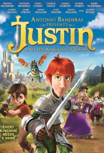 JUSTIN AND THE KNIGHTS OF VALOR. (DVD ART). ©ARC ENTERTAINMENT.