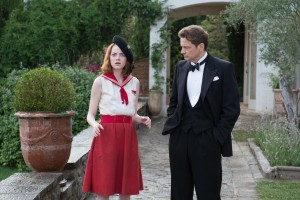 Left to right: Emma Stone as Sophie and Colin Firth as Stanley in MAGIC IN THE MOONLIGHT. ©Gravier Productions. CR: Jack English.