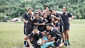 The American Samoa Football (soccer) team featured in NEXT GOAL WINS. ©K5 International.