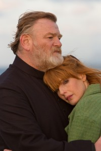 "Brendan Gleeson as ""Father James"" and Kelly Reilly as ""Fiona"" in CALVARY. ©20th Century Fox. CR:  by Jonathon Hession."