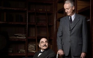 "(l-r) David Suchet and Hugh Fraser in ""Agatha Christie: Poirot."" ©BBC."