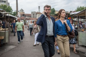 (Left to right.) Pierce Brosnan and Olga Kurylenko star in Relativity Media's November Man.  © 2014 No Spies, LLC. CR: Aleksandar Letic