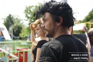 "A shot from ""Making A Scene With James Franco"" emulating a scene from ""Grease."" ©James Franco."