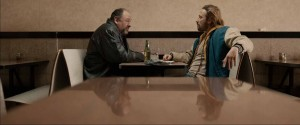 James Gandolfini as Marv and Matthias Schoenaerts as Eric Deeds in THE DROP. ©20th Century Fox.