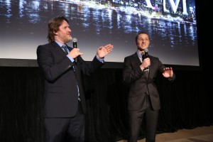 (L-R) GOTHAM cast members Donal Logue and Ben McKenzie introduce the special VIP premiere screening of GOTHAM  during the GOTHAM Series Premiere Event held at the New York Public Library in New York City. ©Fox Broadcasting.