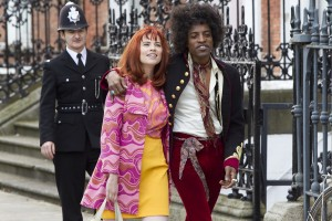 "(L-R) Hayley Atwell as Kathy Etchingham and André Benjamin as Jimi Hendrix in the drama/biopic ""JIMI: ALL IS BY MY SIDE."" ©XLrator Media. CR: Patrick Redmond."