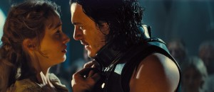 "Vlad (LUKE EVANS) seeks compassion from wife Mirena (SARAH GADON) in ""Dracula Untold."" ©Universal Pictures."