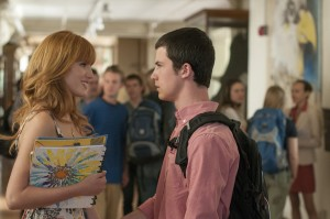 "(R-L) ANTHONY (Dylan Minnette) and CELIA (Bella Thorne) in ""ALEXANDER AND THE TERRIBLE, HORRIBLE, NO GOOD, VERY BAD DAY."" ©Disney Enterprises. CR: Dale Robinette."