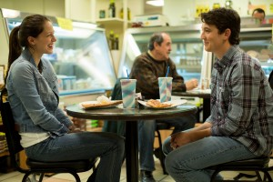 "Left to right: Melissa Benoist as Nicole and Miles Teller as Andrew in ""Whiplash."" ©Sony Pictures Classics. CR: Daniel McFadden,"