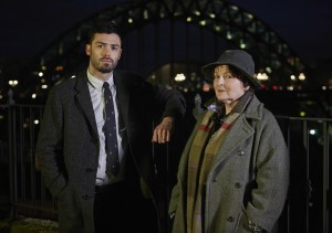 (l-r) David Leon and Brenda Blethyn star in VERA. ©Acorn/RLJ Entertainment. CR: Helen Turton.