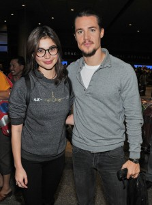 """BLOOD RANSOM"" Stars Anne Curtis & Alexander Dreymon arrives at the LAX Tom Bradley International Terminal in Los Angeles, CA from the Philippines on Sunday, October 26, 2014 for the Premiere of their film ""BLOOD RANSOM."" Photo by: Sthanlee B. Mirador_PRPP."