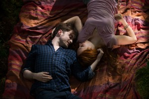 (l-r) DANIEL RADCLIFFE and JUNO TEMPLE star in HORNS. ©Radius/TWC. CR: Doane Gregory.