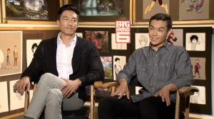 "(l-r) Daniel Henney and Ryan Potter during their press interview for ""Big Hero 6"" at the Walt Disney Animation Studio. ©Pacific Rim Video."