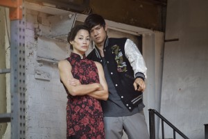"(l-r) Linda Wang and Harry Shum Jr. in ""Revenge Of The Green Dragons."" ©A24 Films."