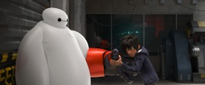 "When he finds himself in the middle of a dangerous plot unfolding in the streets of San Fransokyo, robotics prodigy Hiro Hamada transforms Baymax—into a high-tech hero in ""Big Hero 6."" ©2014 Disney. All Rights Reserved."