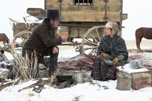 Tommy Lee Jones and Hilary Swank star in THE HOMESMAN. ©Roadside Attractions. CR: Dawn Jones.