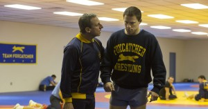 (l-r) Steve Carell as John du Pont and Channing Tatum as Mark Schultz in FOXCATCHER. ©Sony Pictures Entertainment. CR: Scott Garfield.