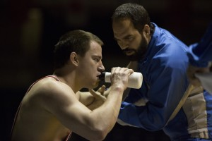 (l-r) Channing Tatum as Mark Schultz and Mark Ruffalo as Dave Schultz in FOXCATCHER. ©Sony Pictures Classics. CR: Scott Garfield.