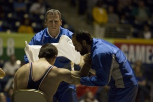 (l-r) Channing Tatum as Mark Schultz, Steve Carell as John du Pont and Mark Ruffalo as Dave Schultz in FOXCATCHER. ©Sony Pictures Classics. CR: Scott Garfield.