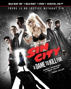 Sin City: A Dame To Kill For (Blu-ray / DVD Art). ©Anchor Bay.