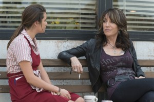 (L-R) Lea Michele as Gertie, Katey Sagal as Gemma Teller in SONS OF ANARCHY.  ©FX Networks. CR: Prashant Gupta/FX
