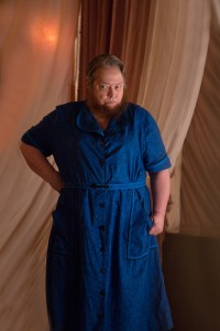 Kathy Bates stars as Ethel Darling in AMERICAN HORROR STORY: FREAK SHOW. ©FX. CR: Michele K. Short/FX.