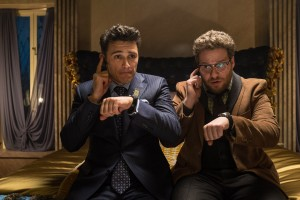 Dave (James Franco) and Aaron (Seth Rogen) in Columbia Pictures' THE INTERVIEW. ©CTMG. CR: Ed Araquel.