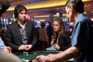 Left to right: Mark Wahlberg is Jim Bennett and Brie Larson is Amy Phillips in THE GAMBLER. ©Paramount Pictures. CR: Claire Folger.