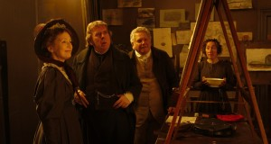 Left to right: Lesley Manville as Mary Sonerville, Timothy Spall as J.M.W. Turner, Paul Jesson as William Turner and Dorothy Atkinson as Hannah Danby in MR. TURNER. ©Sony Pictures Classics. CR: Simon Mein