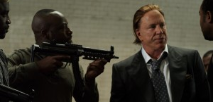 "(L-R) Akon as Opuwei, Wyclef Jean as Timi Gabriel and Mickey Rourke as Tom Hudson in the dramatic action film ""Black November"" also starring Sarah Wayne Callies. ©Entertainment One Films."