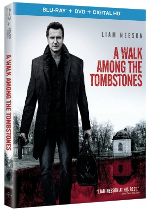 A WALK AMONG THE TOMBSTONES. (Blu-ray DVD Artwork). ©Universal Studios.