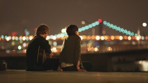 (l-r) Johnny Flynn and Anne Hathaway stars in SONG ONE. ©Cinedigm.