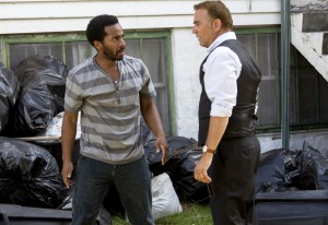 Kevin Costner (r) and Andre' Holland star in Relativity Media's BLACK OR WHITE.    © 2014 BLACKWHITE, LLC. CR: Tracey Bennett