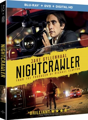 NIGHTCRAWLER. (Blu-ray / DVD Cover art). ©Universal Pictures.