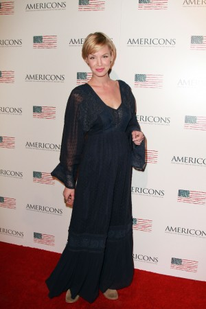 Ashley Scott arrives on the red carpet of the premiere of AMERICONS held at the Arclight Theaters in Hollywood, CA on Thursday, January 22, 2015. ©Theresa Bouche