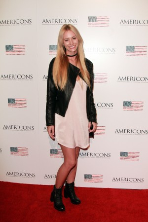 Bryanna Holly arrives on the red carpet of the premiere of AMERICONS held at the Arclight Theaters in Hollywood, CA on Thursday, January 22, 2015. ©Theresa Bouche