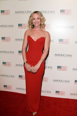 Alyshia Ochse arrives on the red carpet of the premiere of AMERICONS held at the Arclight Theaters in Hollywood, CA on Thursday, January 22, 2015. ©Theresa Bouche