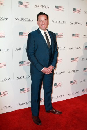 Director Theo Avgerinos arrives on the red carpet of the premiere of AMERICONS held at the Arclight Theaters in Hollywood, CA on Thursday, January 22, 2015. ©Theresa Bouche