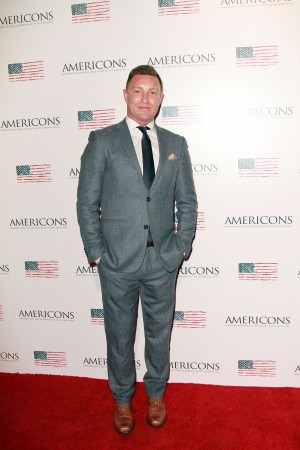 Lane Garrison arrives on the red carpet of the premiere of AMERICONS held at the Arclight Theaters in Hollywood, CA on Thursday, January 22, 2015. ©Theresa Bouche