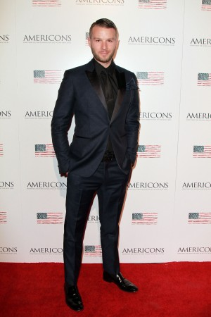 Co-Creator and star Matt Funke arrives on the red carpet of the premiere of AMERICONS held at the Arclight Theaters in Hollywood, CA on Thursday, January 22, 2015. ©Theresa Bouche