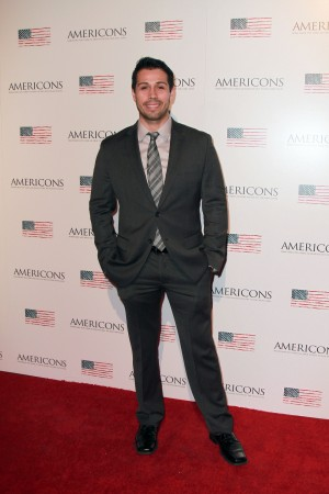 Producer Matt Medrano arrives on the red carpet of the premiere of AMERICONS held at the Arclight Theaters in Hollywood, CA on Thursday, January 22, 2015. ©Theresa Bouche