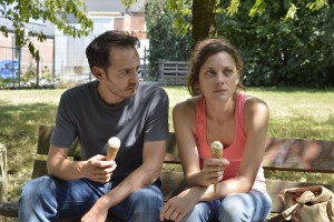 Fabrizio Rongione and Marion Cotillard inTWO DAYS, ONE NIGHT. ©IFC Films.